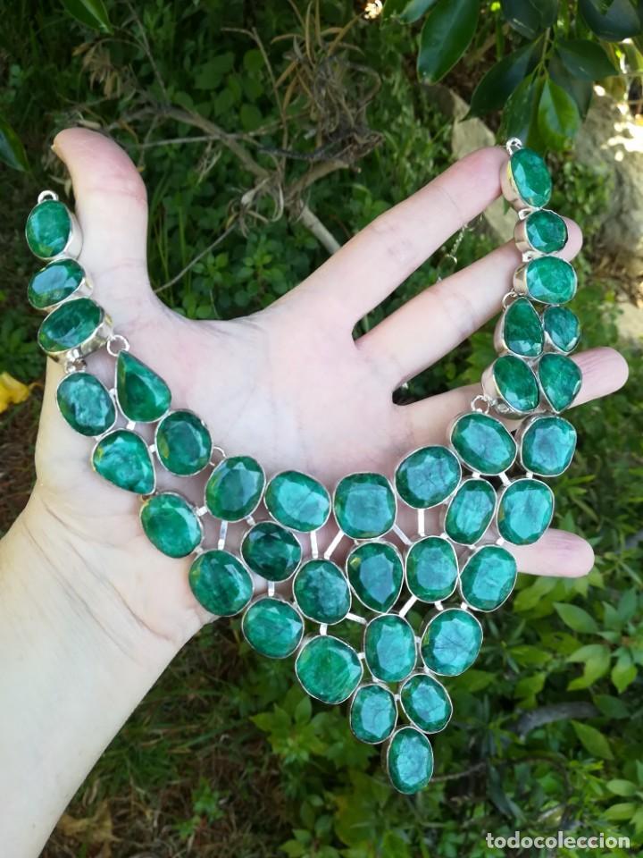 Joyeria: Collar de esmeraldas brasileñas y plata - Foto 6 - 159642178