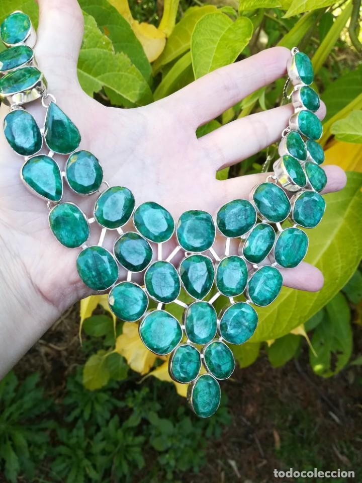 Joyeria: Collar de esmeraldas brasileñas y plata - Foto 8 - 159642178