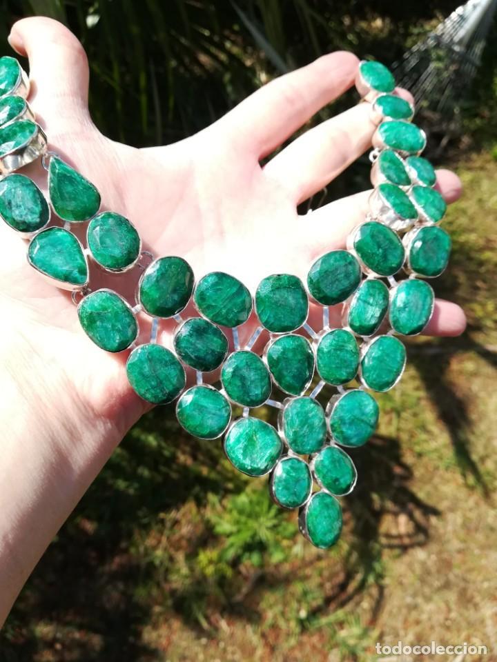 Joyeria: Collar de esmeraldas brasileñas y plata - Foto 9 - 159642178
