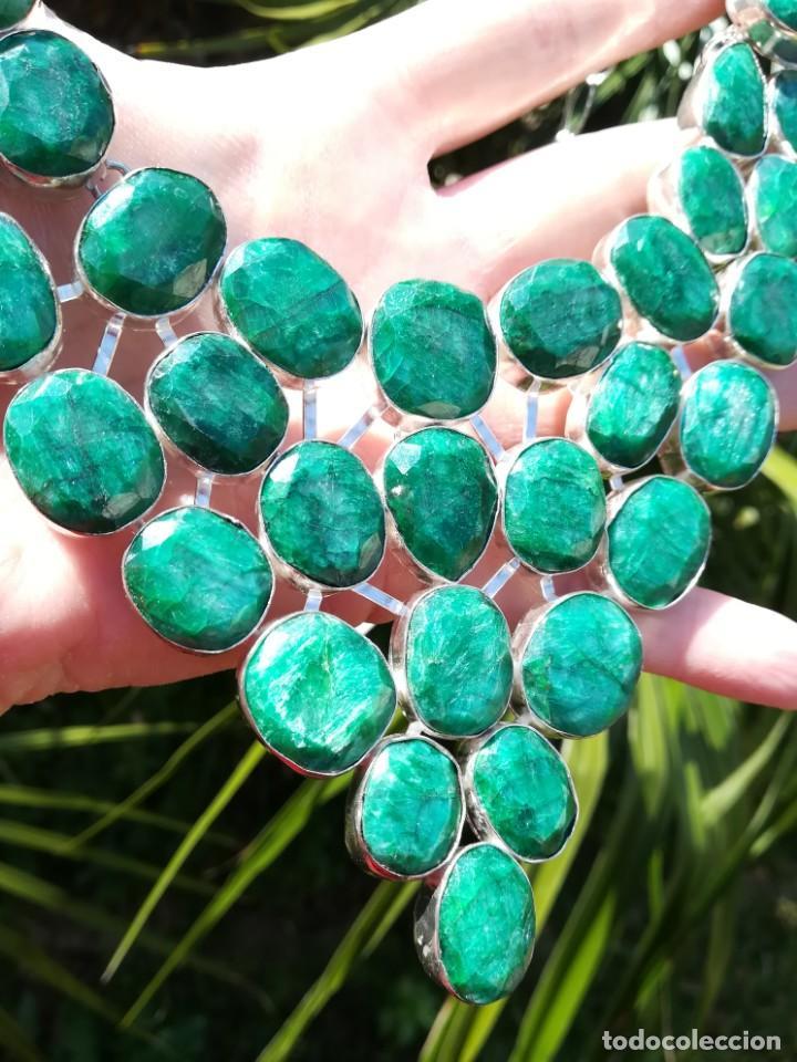 Joyeria: Collar de esmeraldas brasileñas y plata - Foto 10 - 159642178