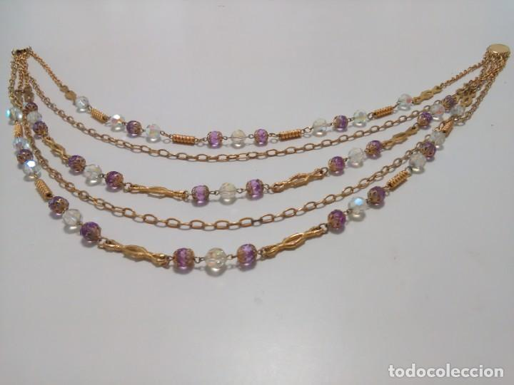 Joyeria: Collar cristal de roca facetado, 5 vueltas - Foto 2 - 159753470