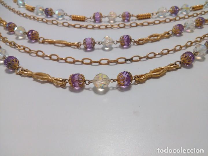 Joyeria: Collar cristal de roca facetado, 5 vueltas - Foto 7 - 159753470