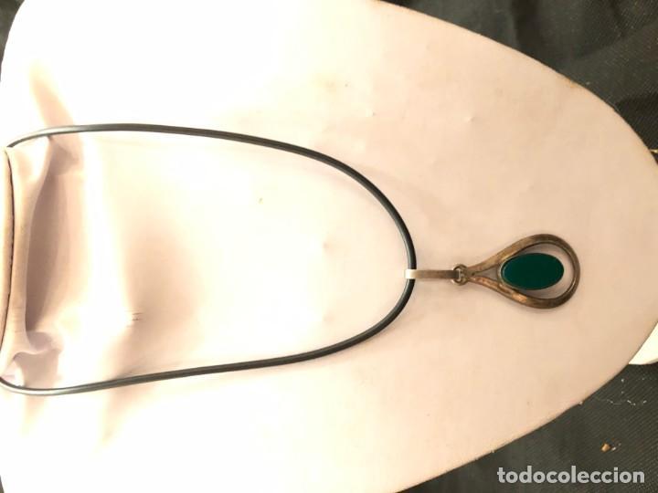 Joyeria: Colgante plata con piedra verde - Foto 2 - 159940546