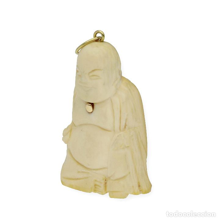 Joyeria: Colgante Buda Marfil y Oro de Ley 18k - Foto 2 - 160235838