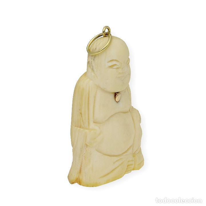 Joyeria: Colgante Buda Marfil y Oro de Ley 18k - Foto 3 - 160235838
