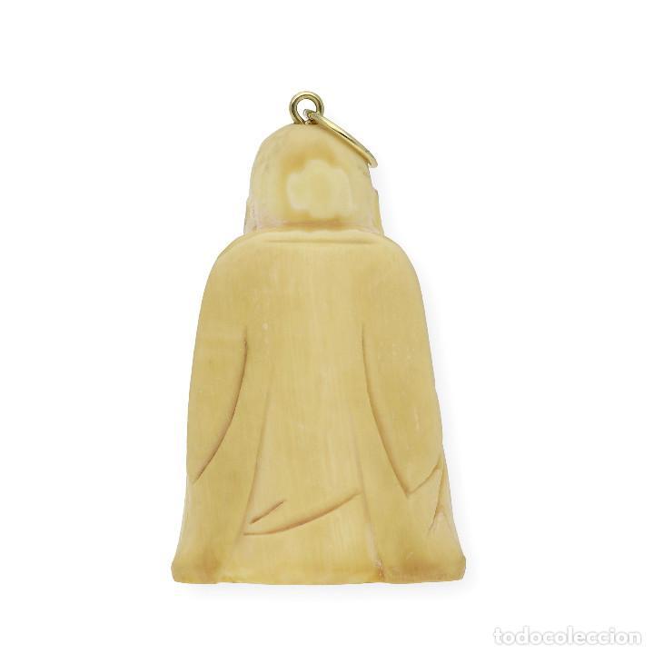 Joyeria: Colgante Buda Marfil y Oro de Ley 18k - Foto 4 - 160235838
