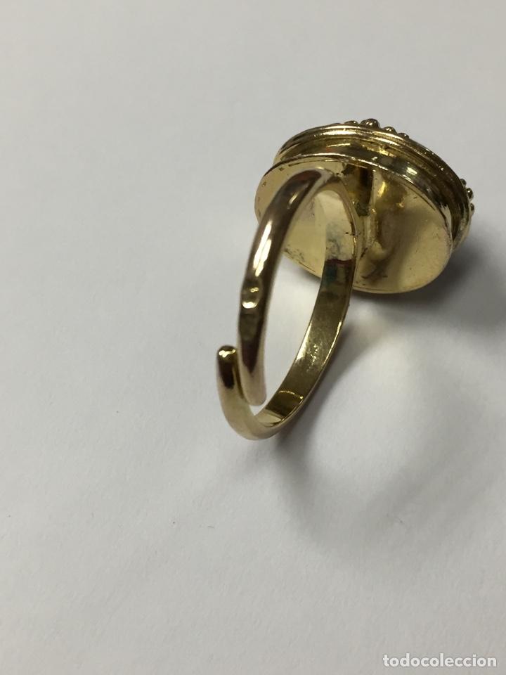 Joyeria: Sortija chapada de oro y amatista - Foto 7 - 160332692