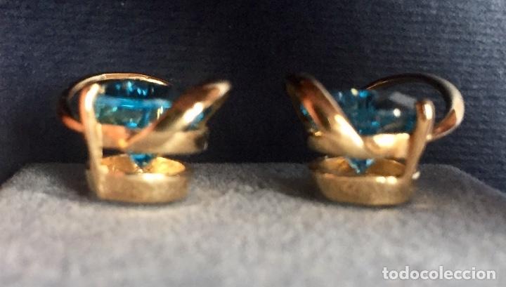Joyeria: Pendientes Oro Topacio Azul y Brillante ROSS JEWELERS - Foto 7 - 160557614