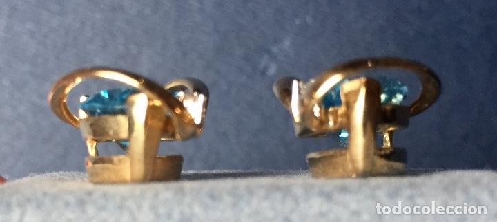 Joyeria: Pendientes Oro Topacio Azul y Brillante ROSS JEWELERS - Foto 8 - 160557614