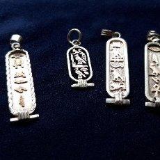 Joyeria: 7 COLGANTES EGIPCIOS DE PLATA. Lote 160700550