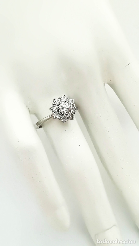 Joyeria: Anillo Vintage Oro 18k y Diamantes - Foto 2 - 141234526