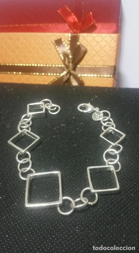 Joyeria: Pulsera / de cadena simple y cuadrados / EN PLATA 925 ¡¡ PESA 14 GRAMOS ¡¡ - Foto 3 - 143050378