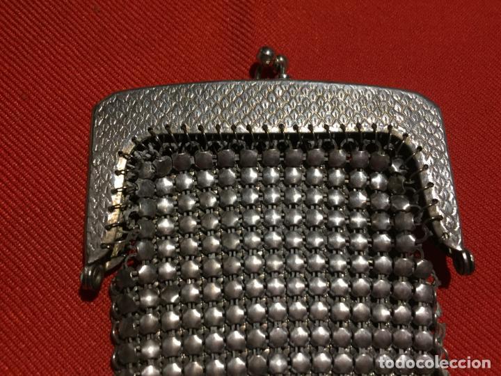 Joyeria: Antiguo momedero de señora de malla metalica con cierre de los años 40-50 - Foto 2 - 161483570