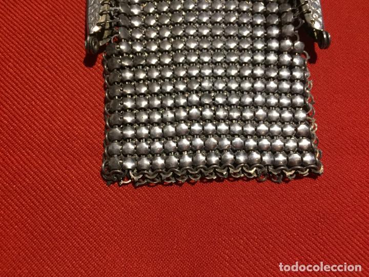 Joyeria: Antiguo momedero de señora de malla metalica con cierre de los años 40-50 - Foto 3 - 161483570