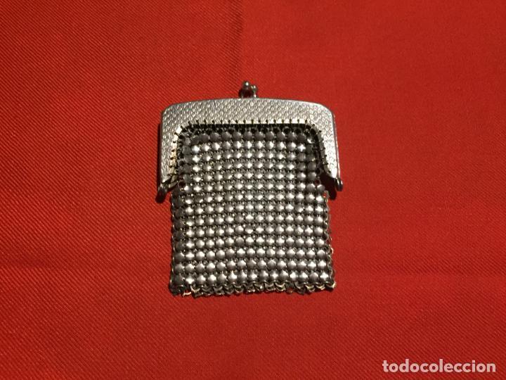 Joyeria: Antiguo momedero de señora de malla metalica con cierre de los años 40-50 - Foto 4 - 161483570