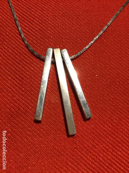 Joyeria: Antiguo collar / cadena de plata de ley de diseño de los años 80 - Foto 7 - 161502842