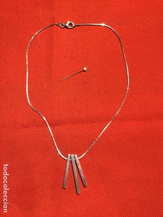 Joyeria: Antiguo collar / cadena de plata de ley de diseño de los años 80 - Foto 8 - 161502842