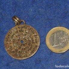 Joyeria: COLGANTE,MEDALLA O MEDALLON DE PLATA CON GRABADO.. Lote 161567766