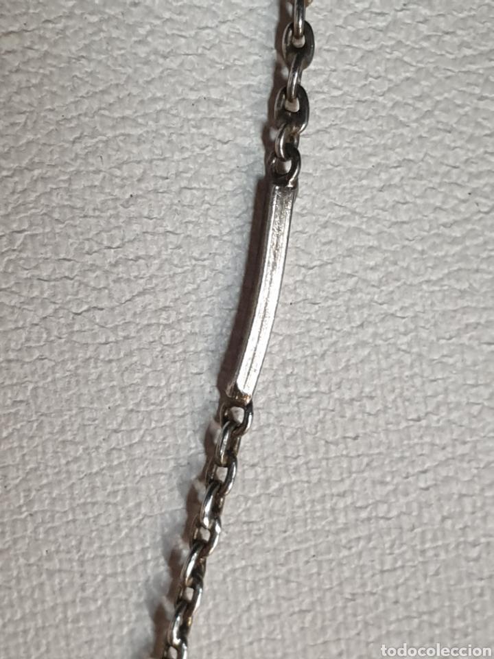Joyeria: Gargantilla filigrana de plata 925 de tubos y cadenilla maciza 2.6 gramos - Foto 2 - 161801136