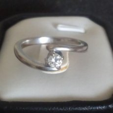 Joyeria: 18 QUILATES ORO BLANCO - ANILLO - 0.25 CT DIAMANTE. Lote 161954446