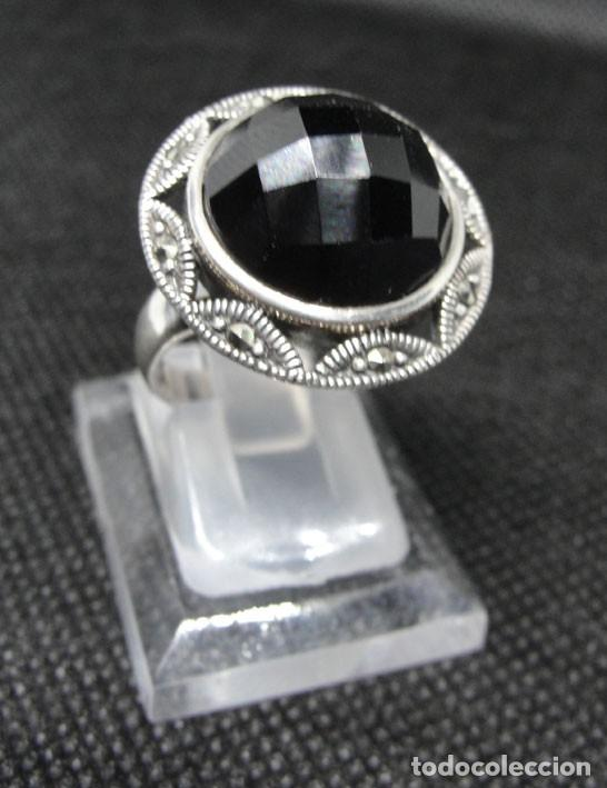 5b00d85f8ce7 Anillo plata con piedra onix con marquesitas - nuevo - - España - Anillo  plata con