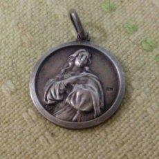 Joyeria: MEDALLA RELIGIOSA DE PLATA. Lote 162381021