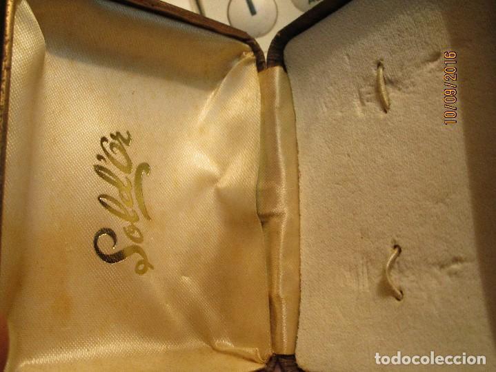 Joyeria: ANTIGUA CAJA DE PENDIENTES O JOYAS GOLD OR - Foto 2 - 162436822