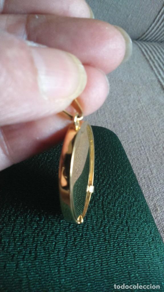 Joyeria: Colgante medalla Virgen Esmalte y oro - Foto 3 - 162927746