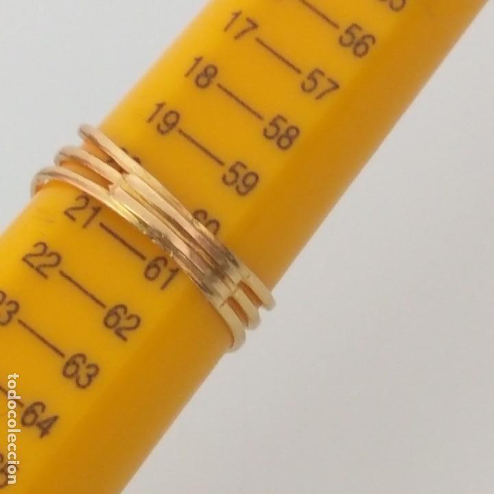 Joyeria: Anillo de Oro de 18 Quilate Esmeralda Rubí y topacio blanco - Foto 4 - 163343618