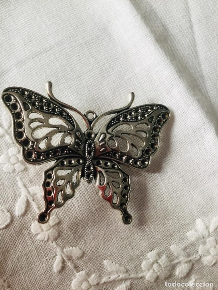Joyeria: Broche antiguo plateadoen forma de mariposa - Foto 3 - 163964282