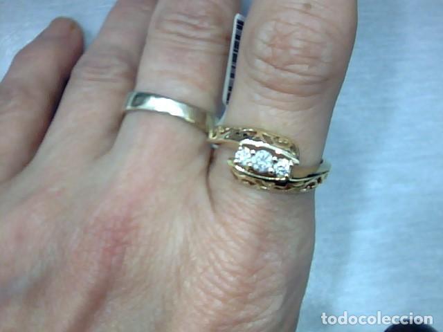 Joyeria: anillo oro 18 kl y diamantes - Foto 2 - 164043322