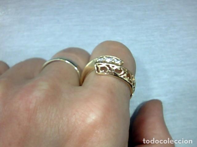 Joyeria: anillo oro 18 kl y diamantes - Foto 3 - 164043322
