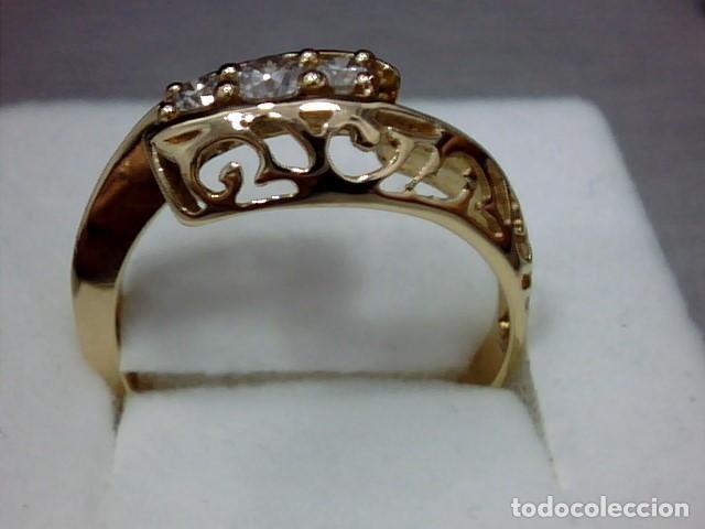 Joyeria: anillo oro 18 kl y diamantes - Foto 7 - 164043322