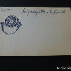 Joyeria: JOYERIA JOSE A. AGRUÑA CALLE ZARAGOZA MADRID DIBUJO ORIGINAL DISEÑO JOYA 8 X 12 CMTS AÑOS 40 . Lote 164607502
