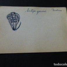 Joyeria: JOYERIA JOSE A. AGRUÑA CALLE ZARAGOZA MADRID DIBUJO ORIGINAL DISEÑO JOYA 8 X 12 CMTS AÑOS 40 . Lote 164607622