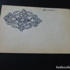 Joyeria: JOYERIA JOSE A. AGRUÑA CALLE ZARAGOZA MADRID DIBUJO ORIGINAL DISEÑO JOYA 8 X 12 CMTS AÑOS 40 . Lote 164610266