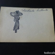 Joyeria: JOYERIA JOSE A. AGRUÑA CALLE ZARAGOZA MADRID DIBUJO ORIGINAL DISEÑO JOYA 8 X 12 CMTS AÑOS 40 . Lote 164610386