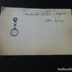 Joyeria: JOYERIA JOSE A. AGRUÑA CALLE ZARAGOZA MADRID DIBUJO ORIGINAL DISEÑO JOYA 8 X 12 CMTS AÑOS 40 . Lote 164610770