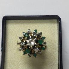 Jewelry - Sortija vintage plata niquelada circonitas y esmeraldas - 164620878