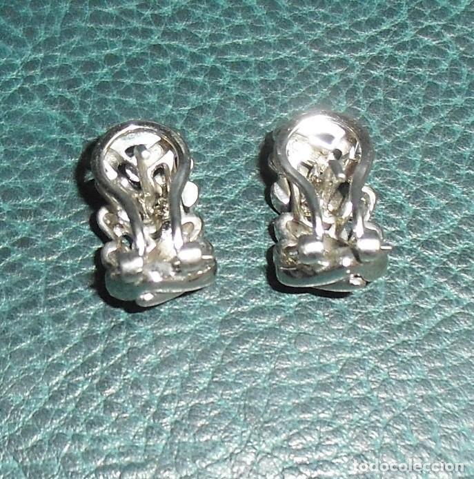 Joyeria: Pendientes circonitas con cierre omega en plata de 1ª Ley. - Foto 2 - 164749122
