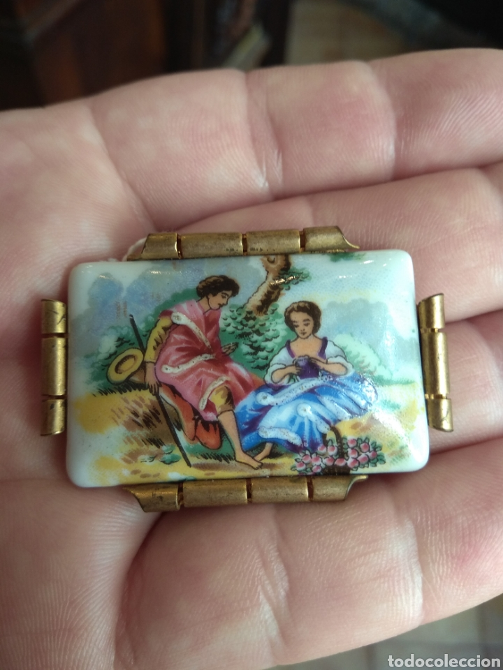 Joyeria: Antiguo Broche de Porcelana Limoges - Foto 2 - 165374473