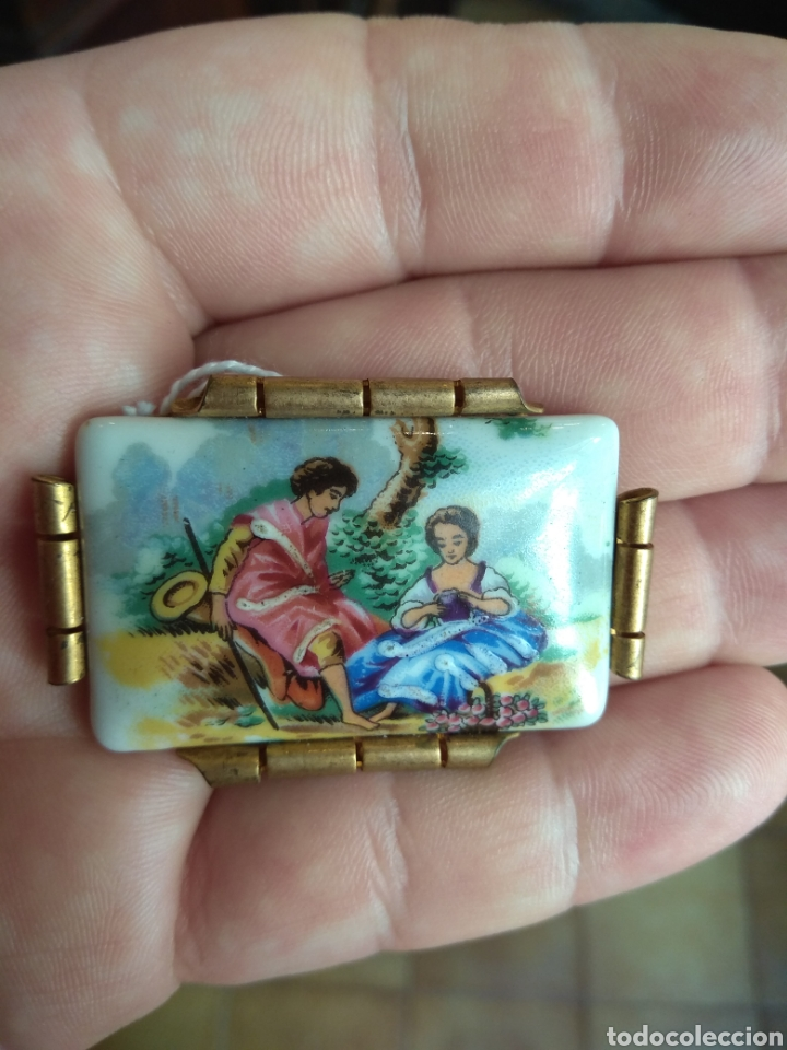 Joyeria: Antiguo Broche de Porcelana Limoges - Foto 3 - 165374473
