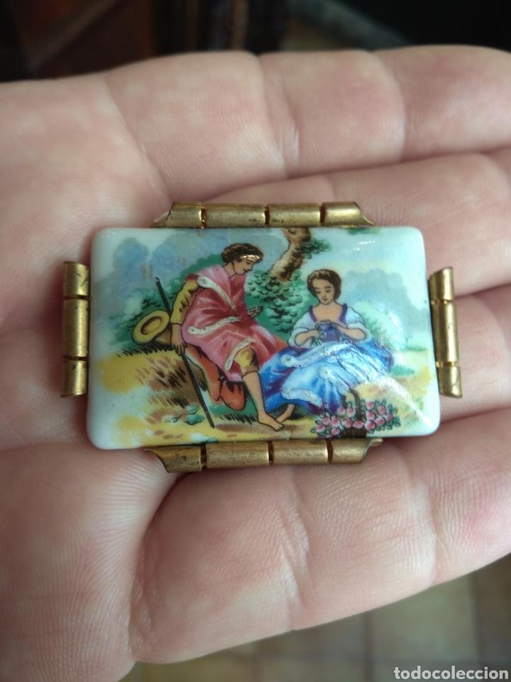 Joyeria: Antiguo Broche de Porcelana Limoges - Foto 6 - 165374473