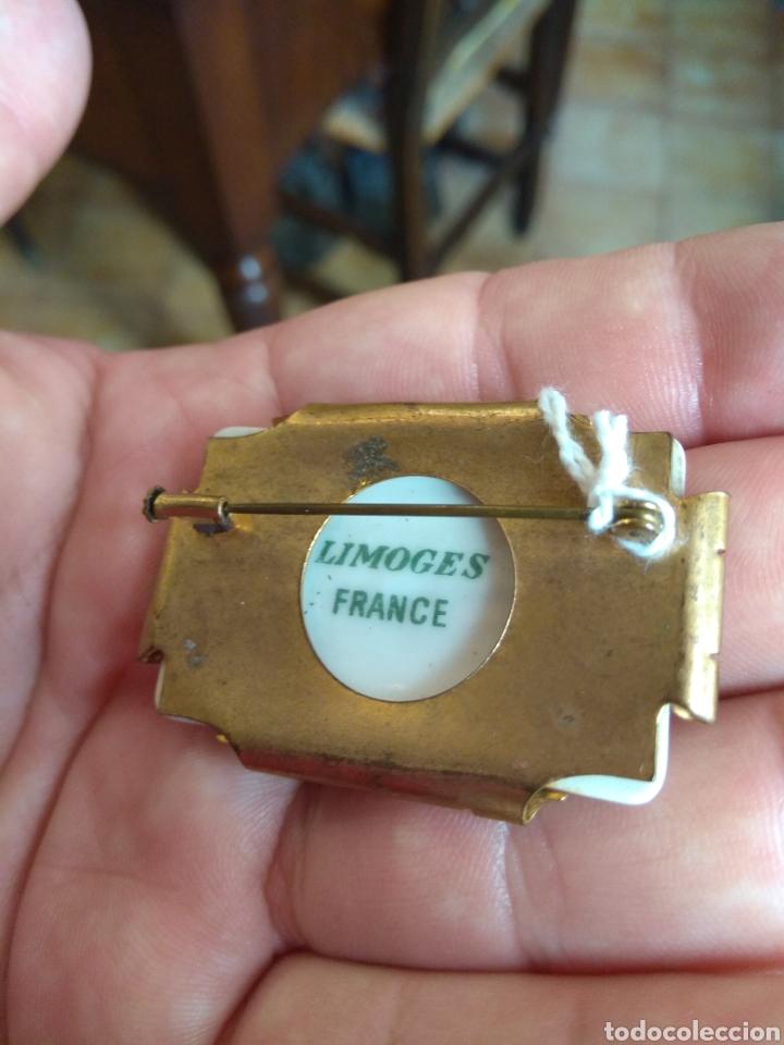Joyeria: Antiguo Broche de Porcelana Limoges - Foto 8 - 165374473