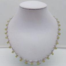 Jewelry - Bella gargantilla vintage en plata de ley contrastada con peridotos naturales facetados . - 165434810
