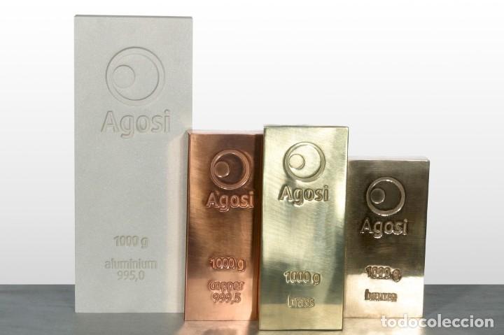 Joyeria: Set de 4 lingotes de 1kg de bronce, cobre, aluminio y latón, fabricados por refinería alemana Agosi - Foto 8 - 154804409