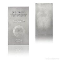 Joyeria: LINGOTE DE ALUMINIO DE 250 GRAMOS, BELLAMENTE ACUÑADO EN REFINERÍA ALEMANA. Lote 165493702