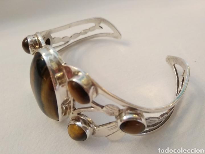 Joyeria: Pulsera de plata de ley y ojo de tigre - Foto 7 - 166125126