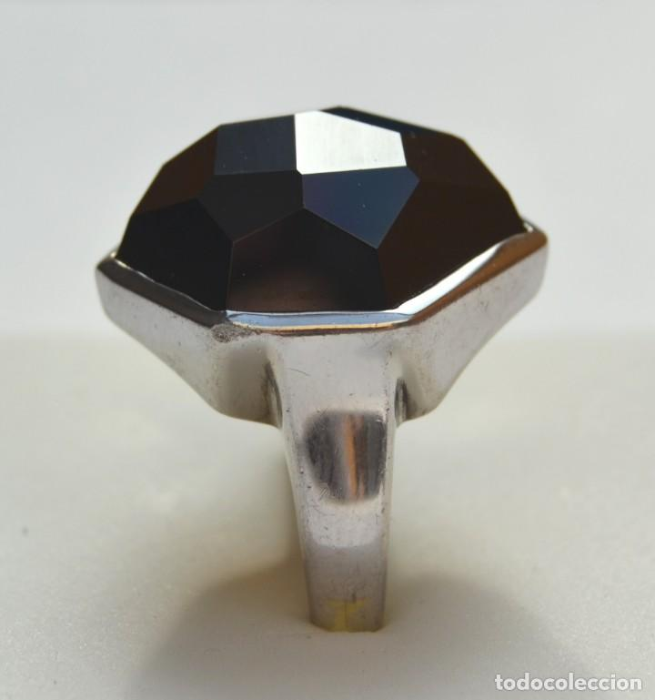 Joyeria: Sortija con piedra hematite tallada de plata de 1ª Ley - Foto 2 - 166170426