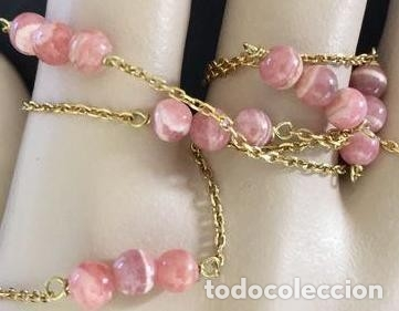 Joyeria: collar de oro de 18Kt y Rodocrositas. - Foto 2 - 100423535